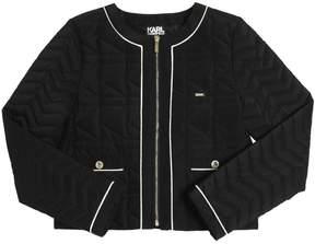 Karl Lagerfeld Logo Quilted Nylon Jacket