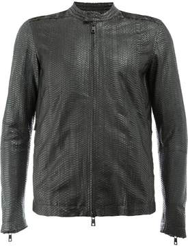 Giorgio Brato snakeskin effect leather jacket