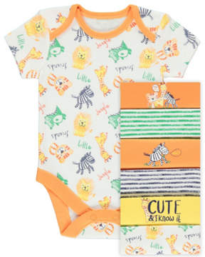 Jungle Safari Friends Bodysuits 7 Pack