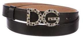 Dolce & Gabbana Strass Buckle Belt