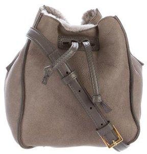 Maiyet Shearling Mini Sia Bucket Bag