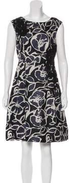 Carmen Marc Valvo Embellished Silk Dress w/ Tags
