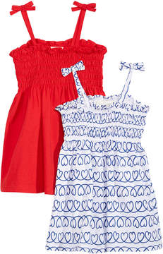 First Impressions 2-Pack Smocked Cotton Sundresses, Baby Girls, Created for Macy's