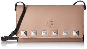 Armani Exchange A X Studded Flap Over Clutch