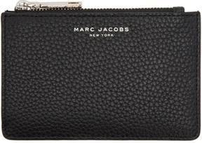 Marc Jacobs Black Gotham Zip Card Holder - BLACK - STYLE