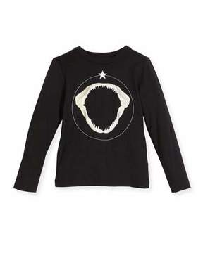 Givenchy Long-Sleeve Shark Graphic T-Shirt, Size 6-10