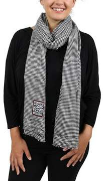 Moschino Scr11242/4 Black/white Checkered Scarf.