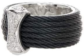 Alor 18K White Gold Diamond Detail Multi Strand Ring - 0.12 ctw