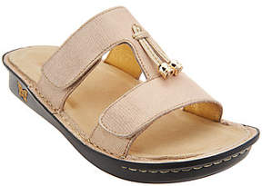 Alegria Leather Slide Sandals with Tassle -Penny