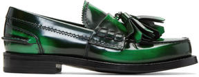 Prada Green Tassel Loafers