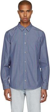 A.P.C. Blue Pinstripe Will Shirt