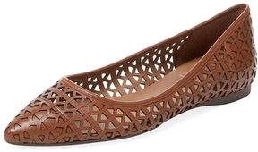 French Sole Women's Quinlan Laser-Cut Leather Flat