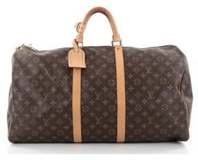 Louis Vuitton Pre-owned: Keepall Bag Monogram Canvas 55. - BROWN - STYLE