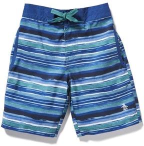 Original Penguin Boys Water Stripe Boardshort