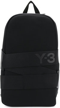 Y-3 strapped backpack