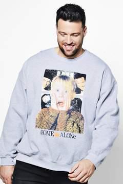 boohoo Big And Tall Home Alone Licence Sweater