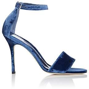Manolo Blahnik Women's Tres Velvet Ankle-Strap Sandals