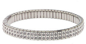 Diamonique As Is Stainless Steel Stretch Bracelet