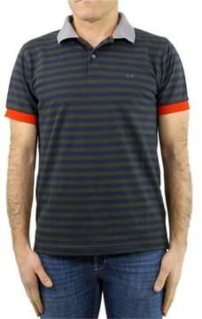 Sun 68 Men's A181220719 Blue/green Cotton Polo Shirt.