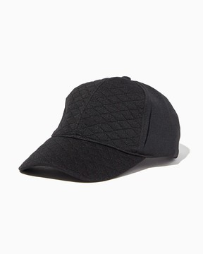 Charming charlie Quilted Sleek Baseball Cap
