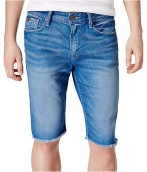 GUESS Mens Slim Fit Cutoff Casual Bermuda Shorts Blue 40