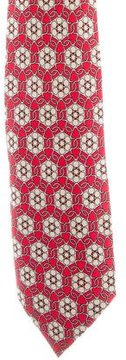 Hermes Silk Floral Print Tie
