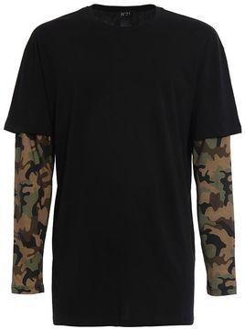 N°21 N.21 Long Sleeve T-shirts Camouflage