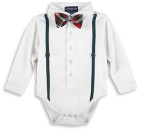 Andy & Evan Baby's & Toddler Two-Piece Plaid Bow Tie Bodysuit and Cotton Bottom Set