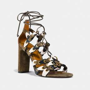 Coach New YorkCoach Lace Up Heel Sandal With Link