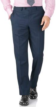 Charles Tyrwhitt Blue Classic Fit Twill Business Suit Wool Pants Size W42 L32