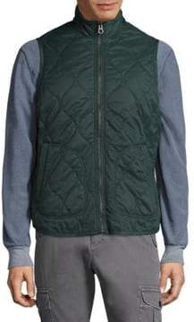 Michael Bastian Stand Collar Quilted Vest