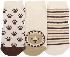 Robeez Boys Tiny Lions Infant Socks - 3 Pack