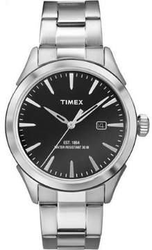 Timex Men's TW2P77300 Silver Stainless-Steel Analog Quartz Fashion Watch
