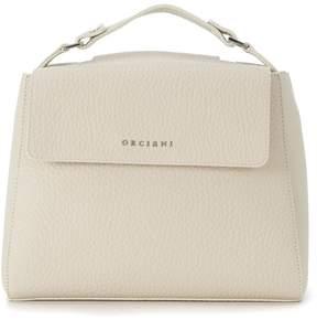 Orciani Ivory Tumbled Leather Handbag