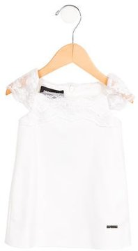 DSQUARED2 Girls' Lace-Trimmed Shift Dress w/ Tags