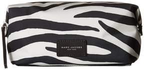 Marc Jacobs Zebra Printed Biker Cosmetics Large Landscape Pouch