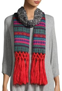 Collection 18 Printed Tassel-Trimmed Scarf