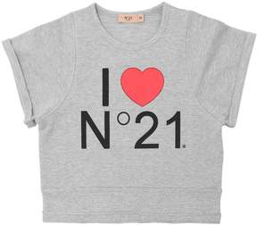 N°21 Light Cotton Cropped Sweatshirt
