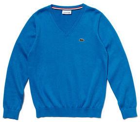 Lacoste Boy's V-neck Cotton Sweater