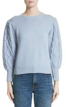 Co Puff Sleeve Wool & Cashmere Sweater