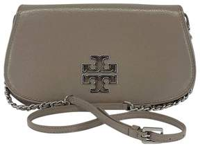 Tory Burch Taupe Patent Leather Crossbody Bag - TAUPE - STYLE