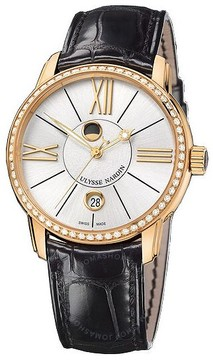 Ulysse Nardin Classico Luna Black Dial 18kt Rose Gold Automatic Men's Watch