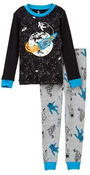 Petit Lem Astronaut in Space Long Sleeve Pajama Set (Toddler & Little Boys)