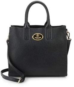 Roberto Cavalli Grainy Calf Leather Tote Bag