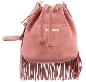 Elizabeth and James Suede & Leather Bucket Bag