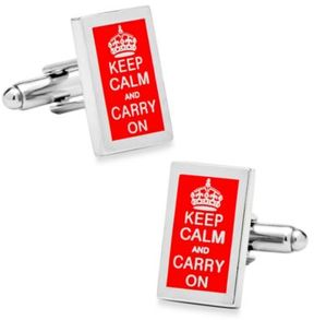Bed Bath & Beyond Keep Calm and Carry On Cufflinks
