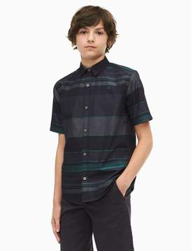 Calvin Klein boys fragment stripe short sleeve shirt