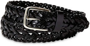 Izod Black Leather Braided Belt - Boys 8-20