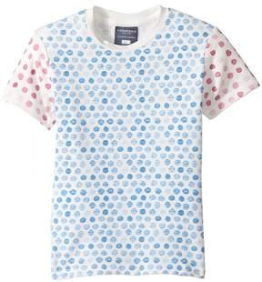 Toobydoo Watercolor Dot Short Sleeve T-Shirt (Toddler/Little Kids/Big Kids)