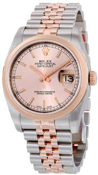 Rolex Oyster Perpetual Datejust 36 Pink Dial Stainless Steel and 18K Everose Gold Jubilee Bracelet Automatic Men's Watch